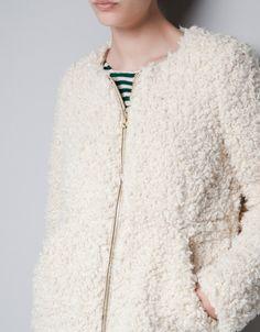 SHEEPSKIN COAT - Jackets - TRF - ZARA Sheepskin Coat, White Long Sleeve, Faux Fur, Tunic Tops, Couture, My Style, Womens Fashion, Sweaters, Jackets