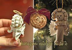 decorazioni natalizie fai da te fatte a mano angeli pasta pallina albero di…