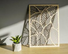 FALLING LEAVES - Laser Cut Wall Decor Art Laser Etched Cut, Wall Hanging Decor for your home in contemporary design style, wood wall decor Laser Art, Laser Cut Wood, Laser Cutting, Metal Tree Wall Art, Wood Wall Art, Metal Wall Decor, Wall Art Decor, Laser Cut Panels, 3d Prints