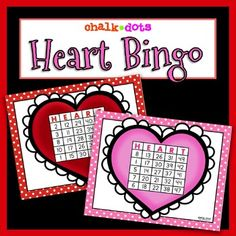 This Valentines Day bingo game is great to use any time during February! It can be played as a whole class as a fun time filler or for a class Valentines Day party! It can also be used in small groups or put in centers and is useful to help younger students practice their number recognition. (1-50) I have included 50 calling cards and 20 different heart bingo cards in both a colored version as well as a black and white version to save ink. Valentines Day Activities, Valentines Day Party, Valentine Crafts, Valentine Box, Heart Bingo, Groundhog Day, Bingo Cards, Small Groups, Party Games