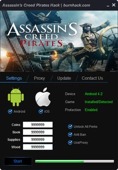 Assassin's Creed Pirates Hack Cheat Unlimited Coins Android   http://burnhack.com/assassins-creed-pirates-hack-cheat-unlimited-coins-android/
