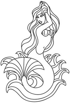 Embroidery Designs at Urban Threads - Mermaid Tattoo