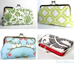 Cute little pocketbooks. I love the bird one. http://www.etsy.com/shop/BrianaEdelmanDesigns