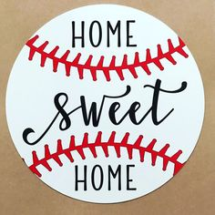 Baseball Sign – Circle Wreath Sign – Wreath Attachment – Home Sweet Home Sign - sport Baseball Wreaths, Baseball Crafts, Baseball Stuff, Baseball Mom, Softball, Baseball Cookies, Travel Baseball, Phillies Baseball, Baseball Birthday