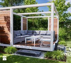 Nowoczesna altana ogrodowa - zdjęcie od Studio projektowe INSPIRACJE