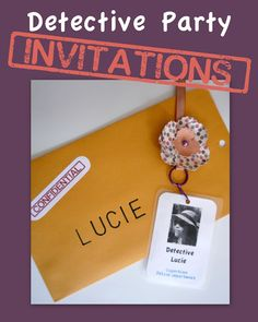 {Detective Party} Invitations | That Cute Little Cake