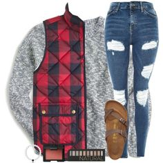 Football game was FREEZING last night! by sweet-n-southern on Polyvore featuring J.Crew, Topshop, Birkenstock and Forever 21