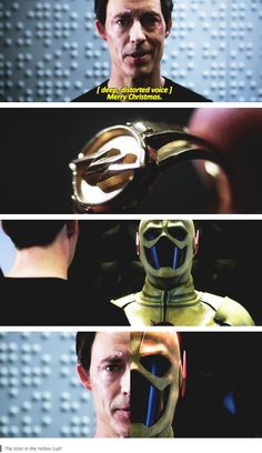 [gifset] #1x09 #TheManInTheYellowSuit #HarrisonWells Can it be him? I didn't think it was wells as reverse flash