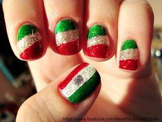mexican nails :3