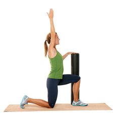 Hip Flexor Stretch With Roller http://www.prevention.com/fitness/strength-training/best-exercises-to-ease-and-prevent-hip-pain/hip-flexor-stretch-roller