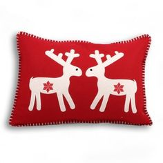 Reindeer Scandinavian Christmas Wool Boudoir Cushion Cover, Red, 35 x 50 Cm by Paoletti, http://www.amazon.co.uk/dp/B007BPFRMI/ref=cm_sw_r_pi_dp_frXvsb1KTQ7DZ