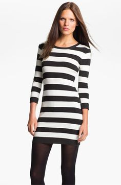 Great Deal on the NHY Sale in 4 colors!!!  French Connection 'Bambi Knits' Stripe Sweater Dress available at #Nordstrom