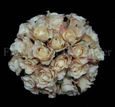 21-22cm Silk Artificial Vintage Cream Roses Bunch Wedding Bouquet Fake Flowers
