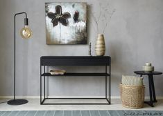 Black Side Table, Nightstand, Entryway Tables, Interior, Furniture, Console, Home Decor, Homes, Decoration Home