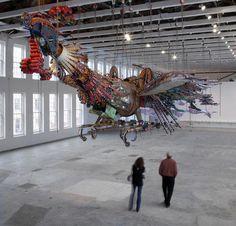 """Xu Bing: Phoenix."" Massachusetts Museum of Contemporary Art (Mass MoCA)"