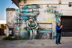 https://flic.kr/p/FU2U8f | Alice Pasquini - Rome (IT) | Inspired by the photography of Gianni Berengo Gardin  Pigneto - via Fanfulla da Lodi  Photo Jessica Stewart