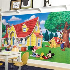 Room Mates Mickey and Friends Wall Mural & Reviews | Wayfair