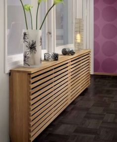 to style up your Central Heating Wooden Radiator Covers with Decorative Trends - shallow cabinets over floorboard radiators in bedroom?Wooden Radiator Covers with Decorative Trends - shallow cabinets over floorboard radiators in bedroom? Home Radiators, Modern Radiators, Decorative Radiators, Modern Radiator Cover, Central Heating Radiators, Famous Interior Designers, Designer Radiator, Small Hallways, Hallway Decorating