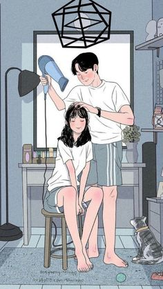 Illustrations Discover This Korean Artist Giving Serious Through His Illustration Drawing Painting Love Couple Art Love Couple Cute Couple Drawings Cute Drawings Art And Illustration Cartoon Art Styles Dibujos Cute Couple Cartoon Korean Artist Love Cartoon Couple, Cute Love Cartoons, Anime Love Couple, Cute Anime Couples, Couple Cartoon Pictures, Paar Illustration, Couple Illustration, Korean Illustration, Landscape Illustration