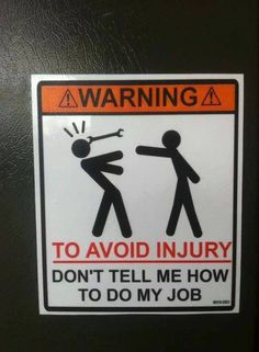 Much needed Warning Sign.