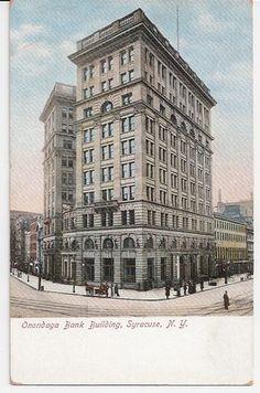 Onandaga Bank Building - Syracuse New York early 1900's scene