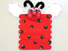 Lady bug craft sticks, made by Susan Earl.