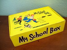 vintage 60s carnival prizes | Vintage 60s Yellow School Box by MadisonRoseVintage on Etsy