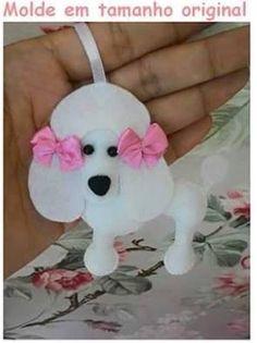 Eu Amo Artesanato: Chaveiro de cachorrinho Poodle
