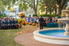 Disney Fairy Tale Wedding outdoor ceremony at Port Orleans Riverside Oak Manor Lawn