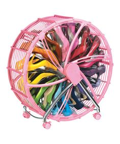 WOW. Now I have seen it all for shoe storage. | Take a look at this Pink Shoe Wheel by Rakku on #zulily today!