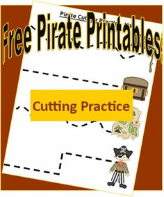 Free Pirate Cutting Practice Preschool Printables