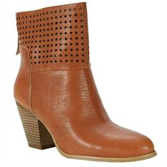 Nine West Hippy Chic Cut Out Bootie | from Von Maur #VonMaur #Boots #Cognac