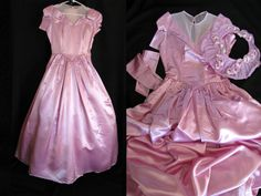 SALE Vintage Lilac Pink Satin Formal by jwvintagecloset Vintage Prom, Spring Sale, Pink Satin, Formal Gowns, Lilac, 1950s, Vintage Items, Prom Dresses, Fashion