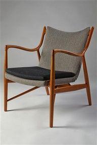 Armchair, NV45. Designed by Finn Juhl for Niels Vodder, Denmark. 1945.