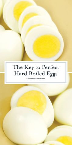 Perfect Hard Boiled Eggs with creamy yellow yolks and easy to peel shells. Read … Perfect Hard Boiled Eggs with creamy yellow yolks and easy to peel shells. Read the tricks and tips for perfect eggs every time! Easy Hard Boiled Eggs, Cooking Hard Boiled Eggs, Boiled Egg Diet Plan, Hard Boil Eggs, Recipe For Hard Boiled Eggs, Best Boiled Eggs, Hard Boiled Egg Breakfast, Perfect Hard Boiled Eggs, Perfect Eggs