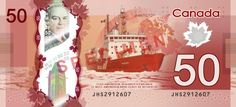 $50 Canadian dollars polymer banknote (back view)   #money #currency #banknotes