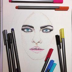 Guess who?  #skrien #creativepush #artofdrawingg #bestdm @artist_helps #art #artist #sketch #sketchaday #instaart #arte  #artwork #igers #instaartist  #thedrawingposts #artfido #artkillsartists #art4youu #art_spotlight #bestartfeatures #artsanity #cara #ink #dots #portrait #pop