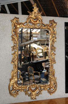 Large English Gilt Rococo Pier Mirror Glass