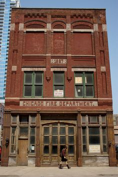 old Chicago Fire Department building at Grand and Illinois