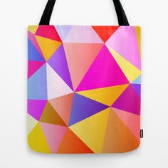 Pink & Yellow No. 3 Tote Bag by House of Jennifer - $22.00