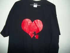 New Custom Screen Printed T-shirt Autism Heart Small - 4XL Free