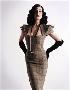 Celebrities in Gloves: Dita von Teese in Louis Vuitton Opera Gloves. The Guardian UK, Fall 2005.