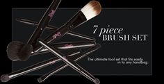 NEW 7 Piece Brush Set launching 1st November @ www.sleekmakeup.com Brow Brush, Contour Brush, Eye Contour, Cosmetic Brush Set, Makeup Brush Set, Beauty Brushes, Sleek Makeup, Brush Sets, Blush Brush