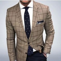 This is how to tastefully mix and match patterns in a suit