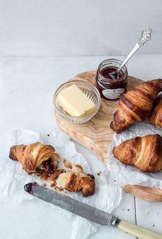 croissants + butter + jam