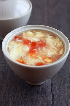 Egg Drop Soup Recipe, 3 key ingredients, 10 minutes to make, so healthy and nourishing | http://rasamalaysia.com