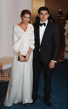 Лола Каримова-Тилляева с супругом Тимуром Тилляевым на благотворительном вечере