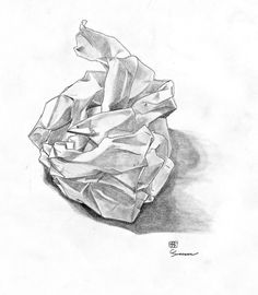 how to draw a crumpled paper ball - Google Search