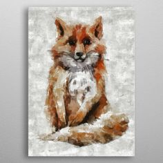 Foxy Fox detailed, premium quality, magnet mounted prints on metal designed by talented artists. Our posters will make your wall come to life. Fox Nursery, Poster Prints, Posters, Mosaic, Metal, Cute, Animals, Beautiful, Boys