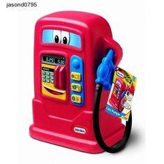 Kids Play Toy Toys Little Petrol Fuel Cozy Pumper Pretend Swipe Credit Card Pay